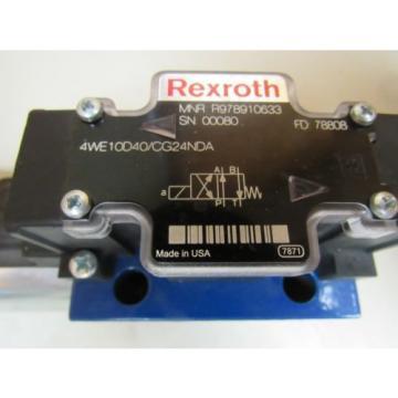 Origin REXROTH HYDRAULIC VALVE 4WE10D40/CG24NDA 4WE10D40CG24NDA 24VDC 146 AMP A