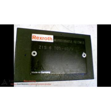 REXROTH Z1S 6 T05-40/V HYDRAULIC CHECK VALVE #167100