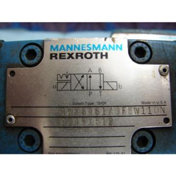 REXROTH China Greece DIRECTIONAL VALVE # H 4WEH22HD74/OF6EW110N9 /  4WE6D61/OFEW11ON9Z45/B12