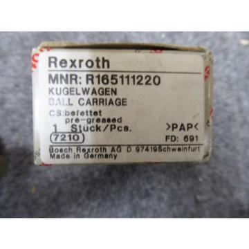 Origin REXROTH LINEAR BEARING # R165111220