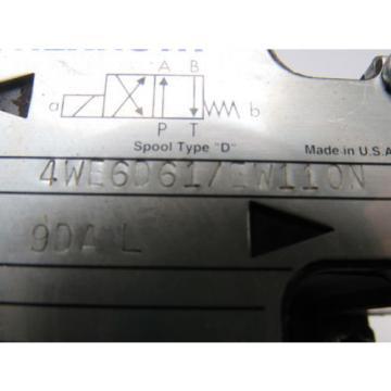 Mannesmann Singapore Australia Rexroth 4WE6D61/EW110N Solenoid Operated Directional Valve