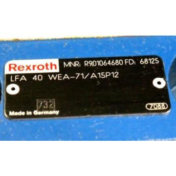 REXROTH LFA40WEA-71/A15P12 HYDRAULIC CARTRIDGE VALVE R901064680 Origin