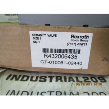 REXROTH CERAM VALVE RT32006435 GT-010061-02440 Origin