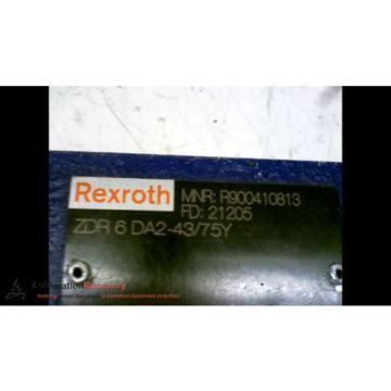 REXROTH China Canada ZDR 6 DA2-43/75Y HYDRAULIC VALVE #167154