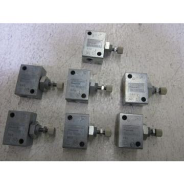 LOT OF 7 REXROTH 534 106 100 0 VALVE USED