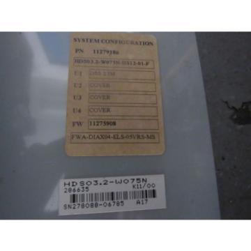INDRAMAT Egypt India REXROTH SERVO DRIVE HDS03.2-W075N HDS032-W075N W/ DSS2.1 REV K11/00