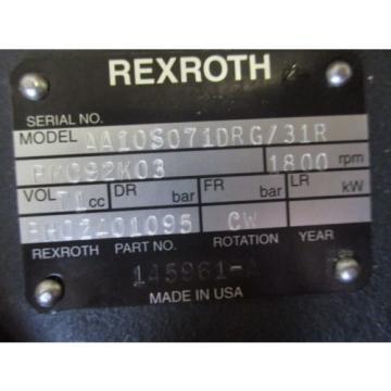 NEW Egypt USA REXROTH HYDRAULIC PUMP AA10S071DRG/31 BH02401095
