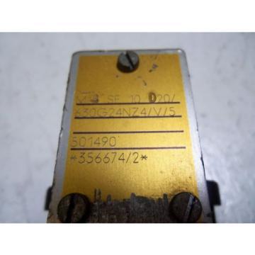 REXROTH Japan Egypt M-4SE10D20/630G24NZ4/V/5 CONTROL VALVE *USED*