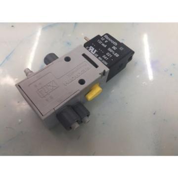 REXROTH R432008662 P-026641-004 4way Single Solenoid 12V DC Pneumatic Valve