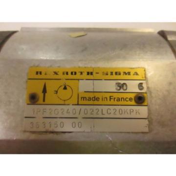 REXROTH Mexico Korea SIGMA GEAR PUMP # 1PF2G240/022LC20KP