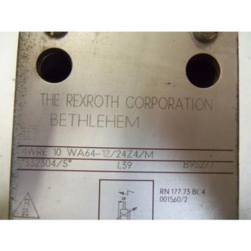 REXROTH Egypt Canada PROPORTIONAL VALVE 4WRE 10 WA64-12/24Z2/M *NEW*