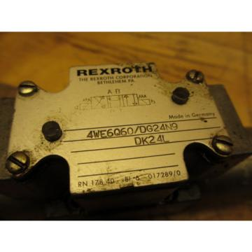 Rexroth 4WE6Q60/DG24N9DK24L Hydraulic Directional Valve 24VDC Hydronorma