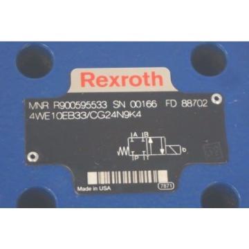 Origin REXROTH 4WE10EB33/CG24N9K4 VALVE R900595533