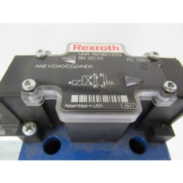 REXROTH France Japan HYDRAULIC VALVE 4WE10D40/CG24NDA 4WE10D40CG24NDA 24VDC 1.46 AMP A