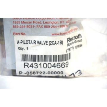 NEW Egypt Korea REXROTH BOSCH R431004669 PILOT AIR VALVE