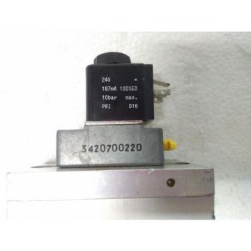 3723572220 REXROTH PNEUMATICS 3/2 WAY SOLENOID VALVE 24VDC Aventics Wabco Marine