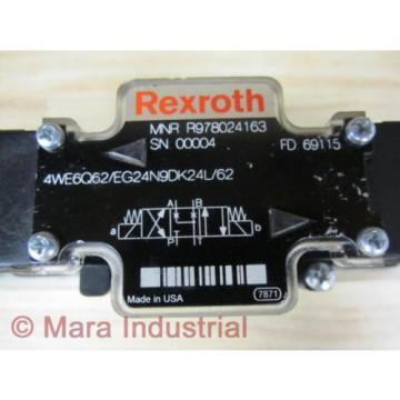 Rexroth Bosch R978024163 Valve 4WE6Q62/EG24N9DK24L/62 - origin No Box