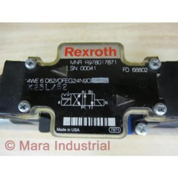 Rexroth Bosch R978017871 Valve 4WE 6 D62/OFEG24N9D K25L/62 - origin No Box