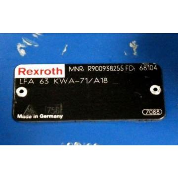 REXROTH Egypt Greece LFA63KWA-71/A18 HYDRAULIC CARTRIDGE VALVE R900938255 NEW