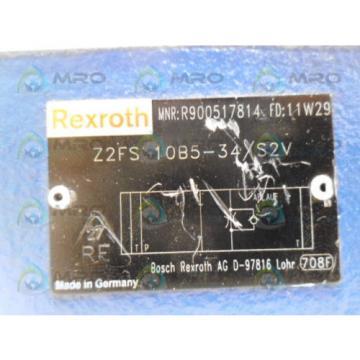 REXROTH China Mexico Z2FS10B5-34/S2V DOUBLE THROTTLE CHECK VALVE *NEW NO BOX*