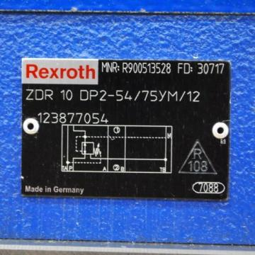 Rexroth Singapore Italy #4WE10E33/CW110N9K4, #ZDR10DP2-54/75YM/12, #DD05HP013S. - USED