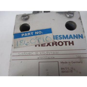 REXROTH 5-4WMRC 10 X70-31/YAW SOLENOID VALVE USED