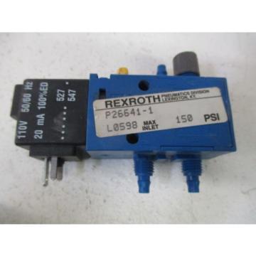 REXROTH P26641-1 SOLENOID VALVE USED