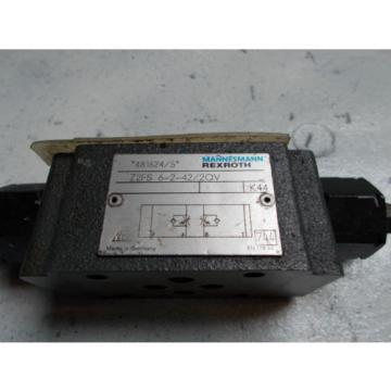 Rexroth China Singapore Z2FS-6-2-42/2QV Hydraulic Dual Flow Control Valve D03