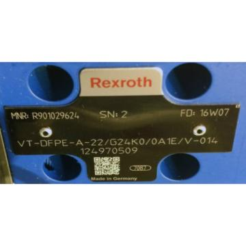 Rexroth Egypt Mexico VT- DFPE-A-22/G24K0/0A1E/V-014 Proportionalventil