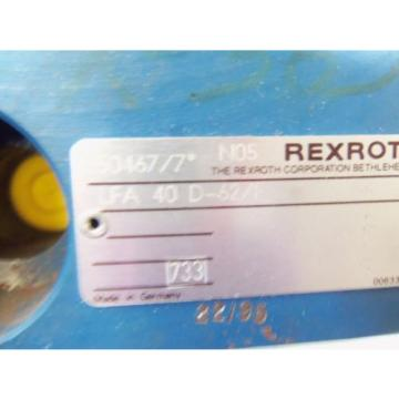 REXROTH HYDRAULIC VALVE LFA 40D-62/F AS PICTURED  USED