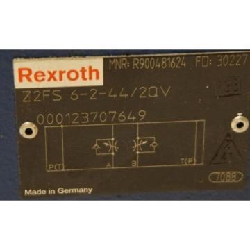 Origin REXROTH Z2FS 6-2-44/2QV FLOW CONTROL VALVE Z2FS6244/2QV