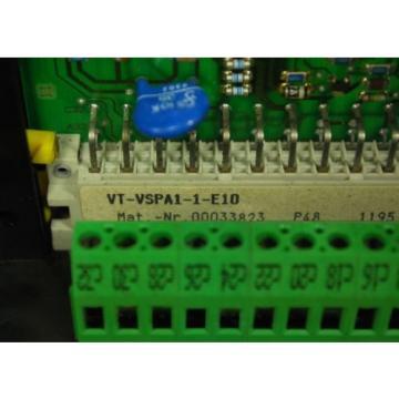 MANNESMANN Russia Singapore REXROTH VT-VSPA1-1-E10 PC Board Assembly Module VSPA1