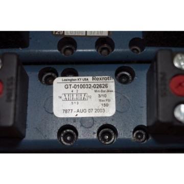 Rexroth Ceram 6-Valve Air Control Manifold GT10061-2440 GT10032-2626