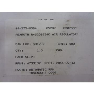 Rexroth Russia Mexico PR-007562-11009 PR00756211009 Regulator R432016340