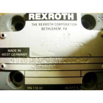 REXROTH Singapore USA DIRECTIONAL VALVE 4WE6D51/OFAW120-60