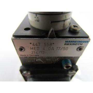 Rexroth Dutch Korea HED4OA17/50Z14/12 447 558 Hydraulic Valve