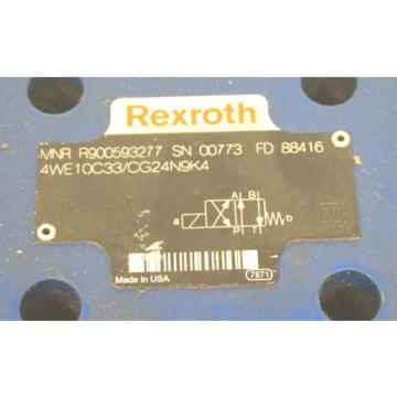 Origin REXROTH 4WE10C33/CG24N9K4 DIRECTIONAL CONTROL VALVE R900593277