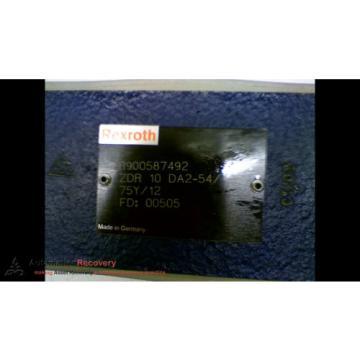 REXROTH R900587492 ZDR 10 DA2-54/75Y/12 HIGH PRESSURE REDUCING VALVE, NE #166928