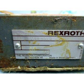 REXROTH Canada Germany LFA 25 WEA-60/12 HYDRAULIC VALVE MANIFOLD
