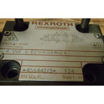 Rexroth Directional Control Valve 4-WE-6-E51/AG24NZ4_4WE6E51AG24NZ4_456442/3 F24