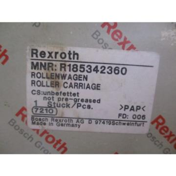 NEW Singapore Korea REXROTH ROLLER CARRIAGE R185342360