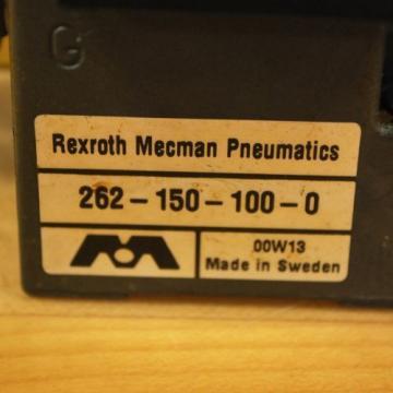 Rexroth France Russia 261-108-110-0 Pneumatic Valve, 24 VDC 2W Coil, 049-384-580-2 Valve