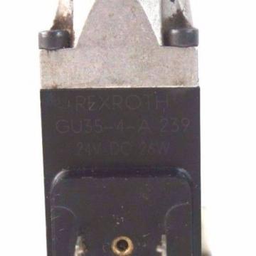 REXROTH 4WE6E51/AG24NZ45V CONTROL VALVE W/ GU35-4-A-239 COILS