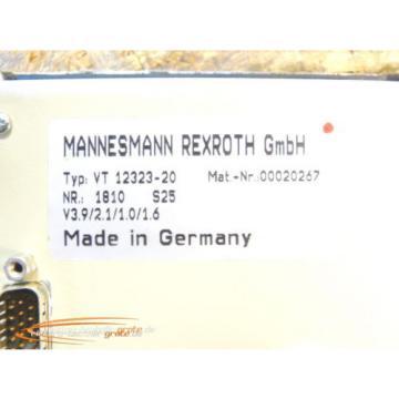Mannesmann Mexico Russia Rexroth VT 12323-20 Bedienpanel BF-1 Nr. 00020267