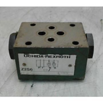 Uchida-Rexroth Korea India Hydraulic Check Valve, Z2S6 40, Used, WARRANTY