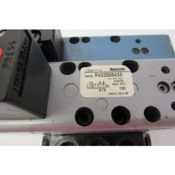 REXROTH R432006435 DUAL VALVE ASSEMBLY