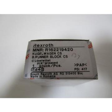 REXROTH Canada Egypt LINEAR BEARING RUNNER BLOCK BALL R162219420 *NEW IN BOX*