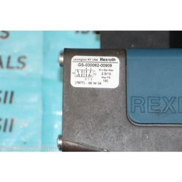 Rexroth USA Egypt GS-030062-00909 Ceram Solenoid Valve 24VDC New