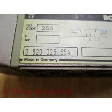 Rexroth Bosch Group 0 820 025 554 Directional Control Valve - Used