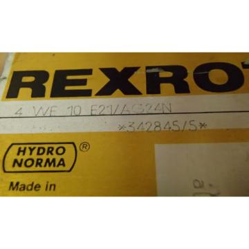 Rexroth Directional Control Valve 4-WE-10-E21/AG24N_4WE10E21AG24N_342845/5 F38